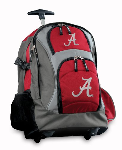 University Of Alabama Rolling Backpack Deluxe Red Alabama Crimson Tide Backpack