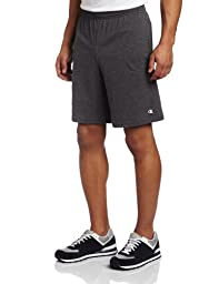 Champion Men\'s Jersey Short With Pockets, Granite Heather, Medium