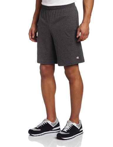buy Champion Men's Jersey Short With Pockets, Granite Heather, X-Large for sale