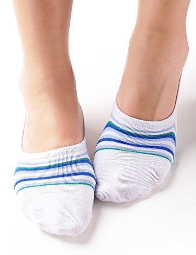 Vero Monte 4 Pairs Womens Cotton No Show Liner Socks (White) 41281