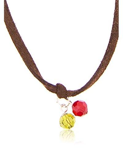 Emporio Armani Collar  Plata / Marrón