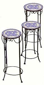North Carolina Tar Heels - UNC Set of 3 Nesting Tables by Traditions Artglass Studios