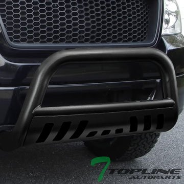 Topline Autopart Hammered Black HD Heavyduty Bull Bar Brush Push Front Bumper Grill Grille Guard Protector Tubular Tube 97-04 Dodge Dakota Regular Club Quad Cab 98-03 Durango Sport SXT SLT Plus R/T (2000 Dodge Dakota Bull Bar compare prices)