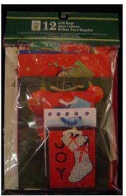 Cleo Inc. Assorted Christmas Gift Bags