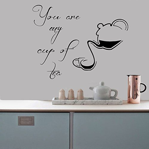 Housewares Vinyl Decal You Are My Cup Of Tea Words Kitchen Cafe Bar Home Wall Art Decor Removable Stylish Sticker Mural Unique Design For Any Room