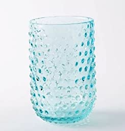 Textured Glass Hurricane Candle Holder/Vase, Hobnail by West Elm, 8.3\