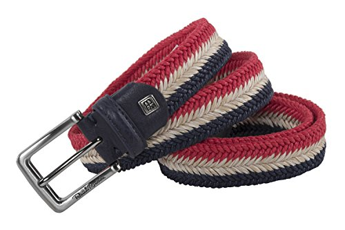 Cintura uomo RENATO BALESTRA blu beige rosso intrecciata in corda 120 cm R6205