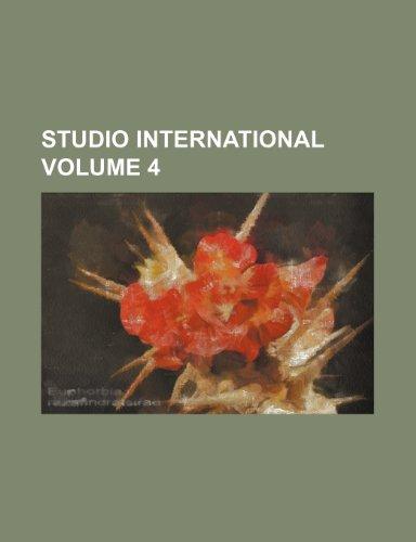 Studio international Volume 4