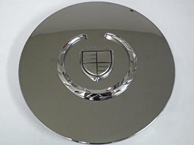 Otis Inc LA Cadillac Seville, Deville, El Dorado, DTS Chrome Wheel Center Cap with Chrome Wreath and Crest