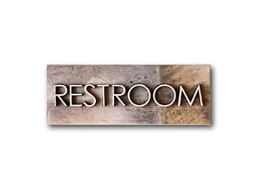 Amazon.com: Authentic Reclaimed Barnwood Restroom Sign