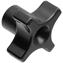 Davies Thermoplastic Four Arm knob, Flute Rim, Threaded Through Hole, 1/4&#034;-20 Thread Size X 1/2&#034; Thread Length, 1-3/4&#034; Diameter (Pack of 5)