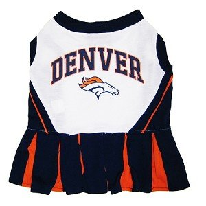 Denver Broncos Dog Cheer Leading Dress & Leash Set Size M at Amazon.com