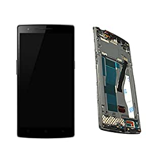 Middle Frame for Oneplus One LCD Display Touch Screen Assembly with Screen Digitizer Replacement Parts + Install Tools with Screen Protector