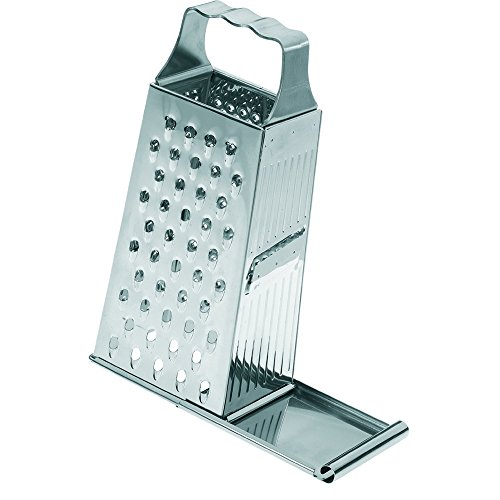 Westmark Germany 4 Sided Stainless Steel Grater for All Your Uncooked Veggies & Food With A Slide at Bottom to Close & Collect Food