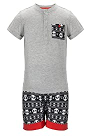 Limited Skull Print Short Pyjamas