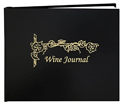 "BookFactory® Wine Journal / Wine Log Book / Wine Collector's Diary / Wine Notebook - Leather Cover - 72 Pages, Professional Grade, Smyth Sewn Hardbound, 8 7/8"" x 7"""