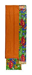 Vidhi Collection Women's Cotton Unstitched Dress Material (Orange)