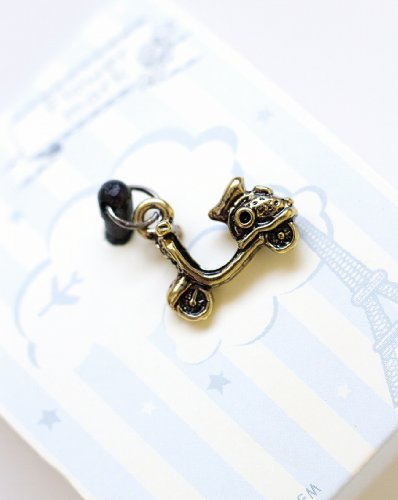 Vintage Style Metal Pendant, Motorcycle, Earphone Jack Accessory, Dust Plug, Ear Hole Cap, Ear Jack For Samsung, Iphone Cell Phone, Ipad, Ipod Touch