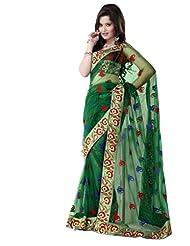 Prafful Net Bhagalpuri Printed Saree With Unstitched Blouse