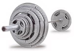Bodypower Tri Grip 100kg Olympic Weight Set (6ft Bar)