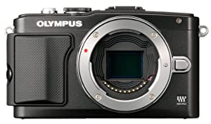 Olympus E-PL5 16MP Compact System Camera with 3-Inch LCD, Body Only (Black)