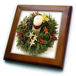 Advent Wreath - 8x8 Framed Tile