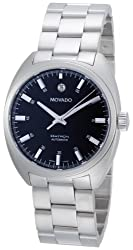 Movado Men's 0606359 Datron Stainless-Steel Black Round Dial Watch from Movado