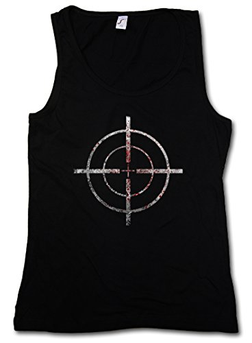 BLOODY CROSSHAIRS SNIPER DONNA CANOTTA TANK TOP - Call of mirino Crosshair Duty Gun Ego-Shooter Rifle Target US Taglie S - XL