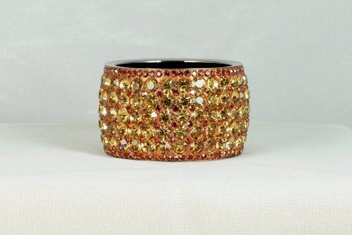 Gold Glam Crystal Metal Bangle