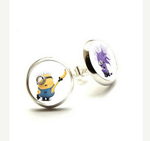 [Despicable Me Earrings - Minion Jewelry - Hypoallergenic Earrings] (Easy Movie Inspired Costumes)