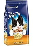 Felix Meaty Sensations Katzenfutter Geflügel, 2 Packungen (2 x 2 kg)