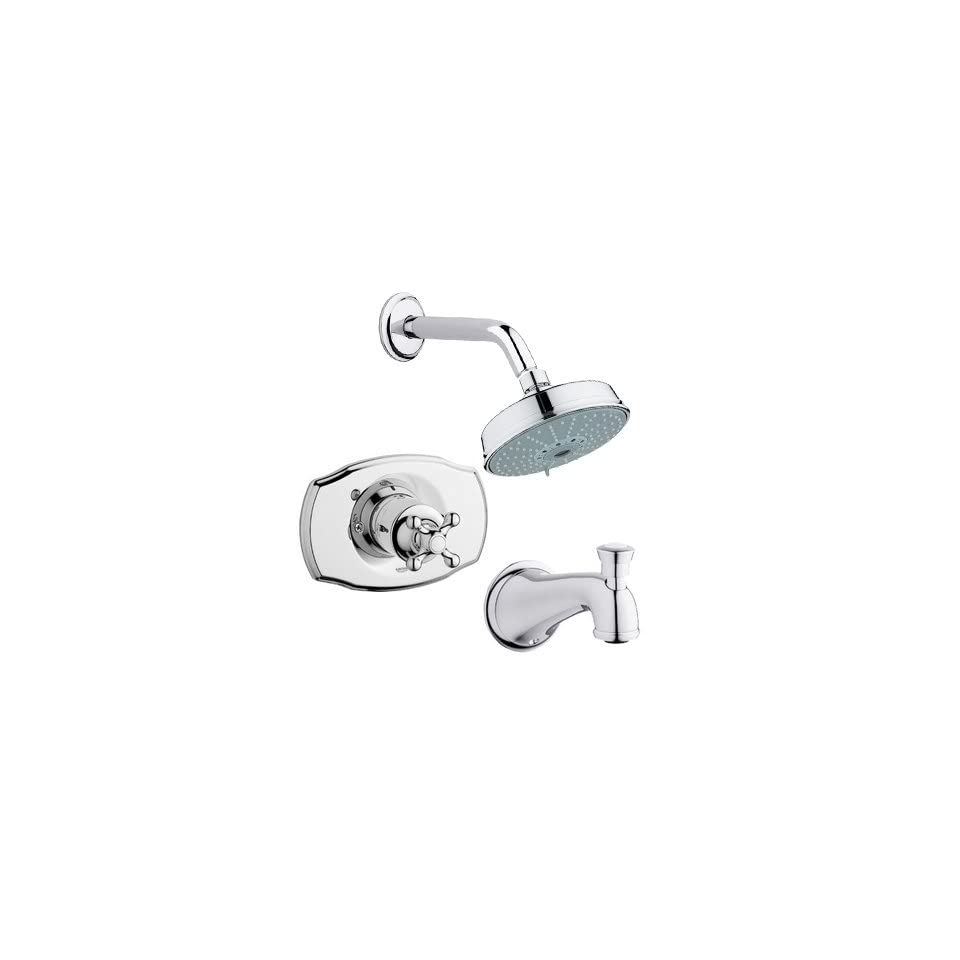 Grohe GR PB103X Starlight Chrome Faucet Grohe GR PB103X Seabury Pressure Balanced Shower Trim with