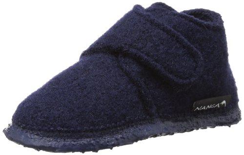 Nanga Leila - Zapatos de primeros pasos de lana bebé - unisex, color azul, talla 22
