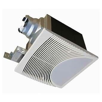 Very quiet 100 cfm bathroom ventilation fan with light nightlight for Quiet bathroom exhaust fan light