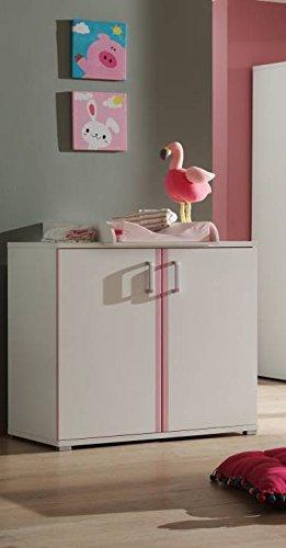 Vipack Kommode Valentine, 2-türig, weiß-rosa