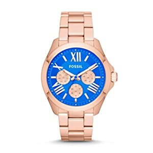 Fossil Women's AM4556 Cecile Analog Display Analog Quartz Rose Gold Watch