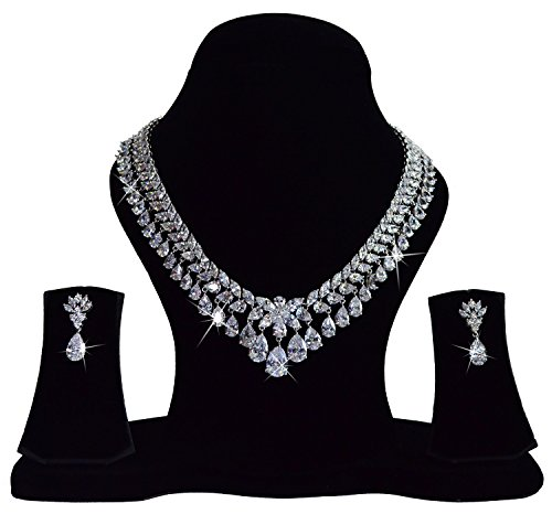 Via-Mazzini-White-Gold-Plated-AAA-Swiss-Cubic-Zirconia-Royal-Rani-Haar-Necklace-For-Women-NK0432