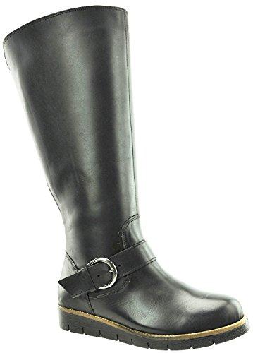 JJ Footwear Damen Schuh Leder Gifford X-Weit Schwarz Nappa/Cosido Mini 38