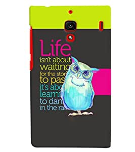 Fuson 3D Printed Quotes Designer back case cover for Xiaomi Redmi 1S - D4127