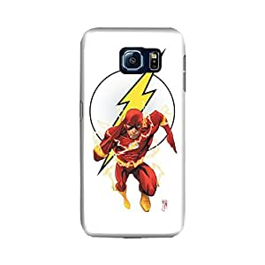 Samsung Galaxy S6 Edge Designer Printed Case & Covers (Samsung Galaxy S6 Edge Back Cover) - Superhero Flash