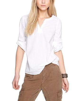 s.Oliver Damen Regular Fit Bluse 14.403.11.8611, Gr. 42, Weiß