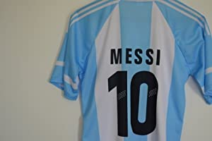 Buy 2014 ARGENTINA MESSI 10 HOME FOOTBALL SOCCER KIDS JERSEY + FREE GIFT by AFA