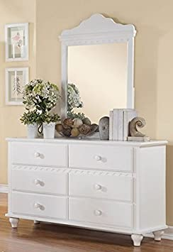 2 Pieces Dresser in White Finish by Homelegance