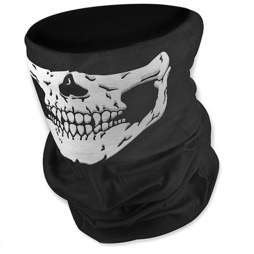 1X Half Face Mask Facemask Neck Warmer Unique Stretchable Windproof Tribal Classic Skull Soft Polyester Snowboard Snowmobile Snow Ski Headwear front-310062