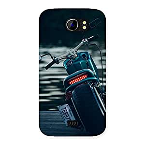 Premium Cruise Bike Multicolor Back Case Cover for Micromax Canvas 2 A110