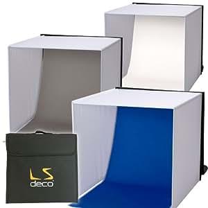 LS deco 撮影ボックス60 【撮影ブース】ロールタイプ3バリエーション背景付き [エレクトロニクス]