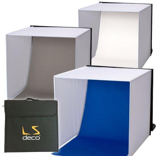 LS deco 撮影ボックス40 【撮影ブース】3バリエーション背景付き フィギュア撮影などに