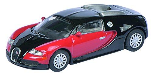 Modellino Bugatti Veyron - Nero / Rosso