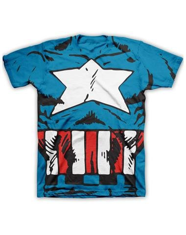 Marvel Captain America Costume Mens T-shirt