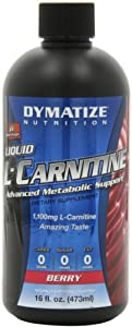 Dymatize Nutrition Liquid L-Carnitine 1100, Berry, 16 Ounce